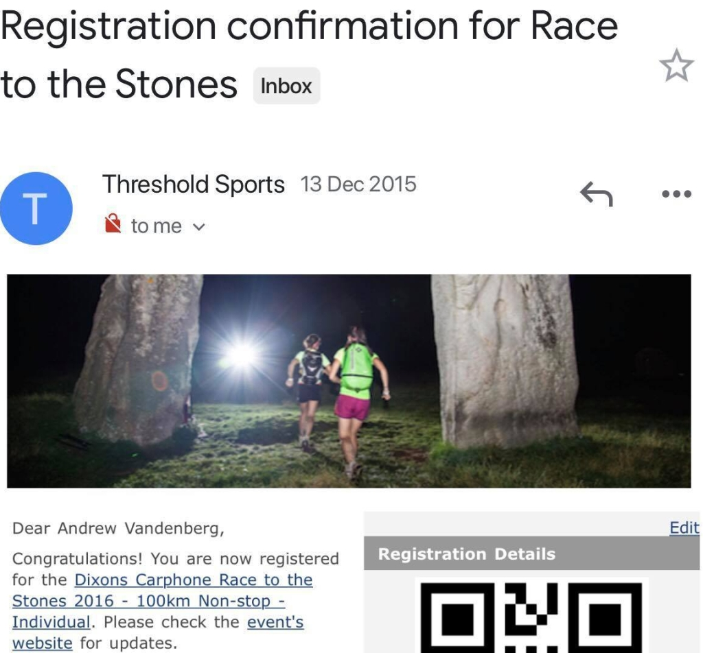 On the 13th December 2015 I decided to sign up to Race to the Stones. My intention was to have a challenge that I could focus on while in the UK, a reason to keep training.  So of course a 100km trail ultra seemed fitting. What an absolute cocky dickhead. There I said it for you. At this point in my life I did a lot of road, in fact only one session per week was off road. The very last race I did prior to Australia was a trail event, my second that I had ever done. I didn't understand how people could enjoy the hills (I still don't), the risk of falling over tree branches and rocks, plus being in the middle of now where. What happens if you get stuck? Correct me if I'm wrong but you're kind of fucked out there! Need to wee or poop? There isn't any toilets. Run around of water? Hope you've watched Bear Grylls on Youtube!